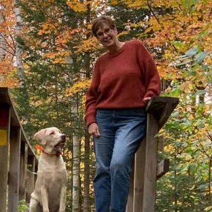 Leann with dog