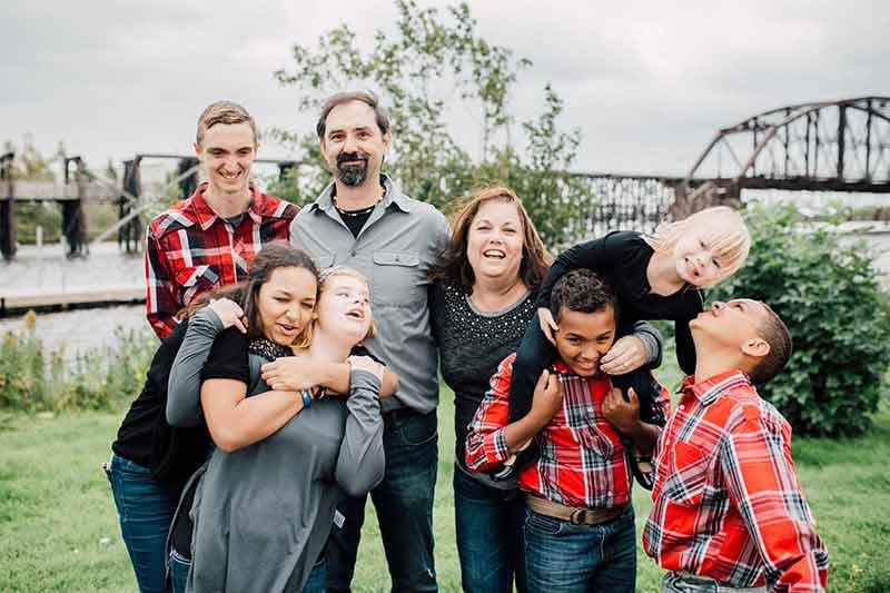 Matt and Kristi with family